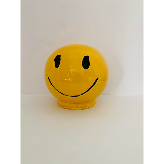"""1970s Vintage """"Have a Nice Day"""" Smiley Face Ceramic Bank For Sale - Image 4 of 6"""