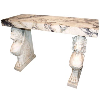 19th C. White Marble Console