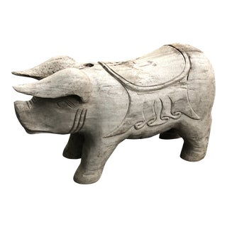 Vintage Wood Weathered Flying Pig For Sale