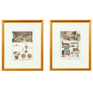 """Hand Colored """"Boulanger"""" Engravings, Denis Diderot, France - a Pair For Sale"""