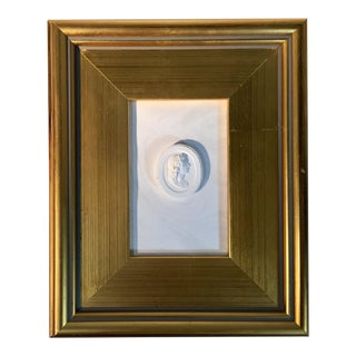 1920s Neoclassical Framed World Tour Plaster Intaglio