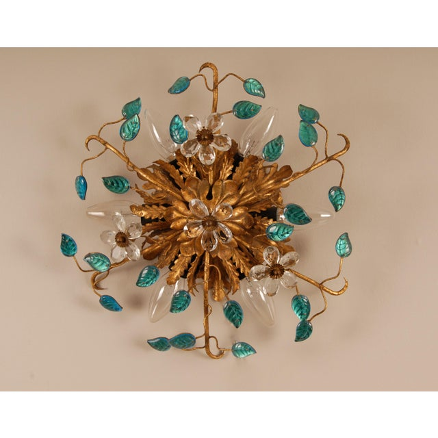 Mid-Century Modern 1970s Mid-Century Italian Murano Glass Sunburst Sconces, Venice - a Pair For Sale - Image 3 of 11