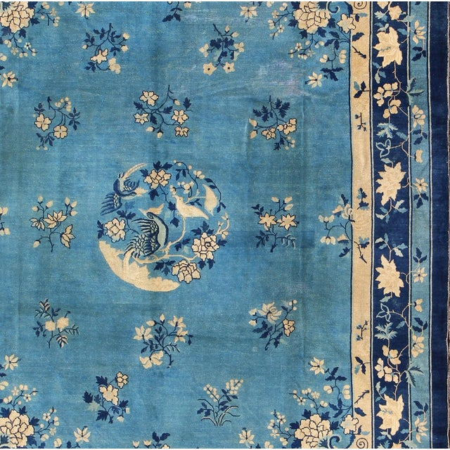 Asian Early 20th Century Antique Chinese Peking Rug - 9′10″ × 11′8″ For Sale - Image 3 of 9