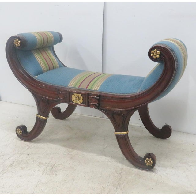 Mahogany Regency Style Window Bench For Sale - Image 9 of 9
