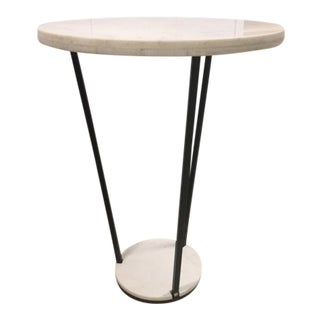 Modern Arteriors Home Marble and Iron Accent Table For Sale