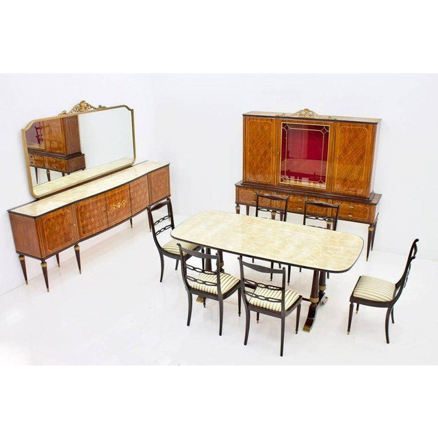Italien Dining Suite From 1959, Table and Six Chairs For Sale - Image 4 of 10