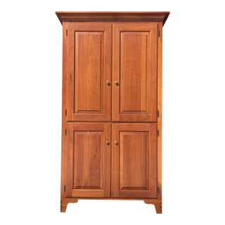 Solid Cherry Chatham Armoire Dresser For Sale