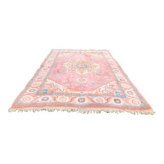 Hand Knotted Traditional Turkish Rug - 9′10″ × 14′ For Sale