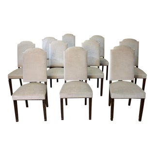Vintage Mid Century Neoclassical Dining Chairs- Set of 10 For Sale
