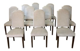 Image of Mohair Dining Chairs