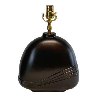 Mid 20th Century Italian Modern Sculpted Bronze Lamp by Esa Fedrigolli For Sale