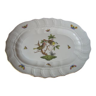 Vintage Herend Rothschild Birds Platter For Sale