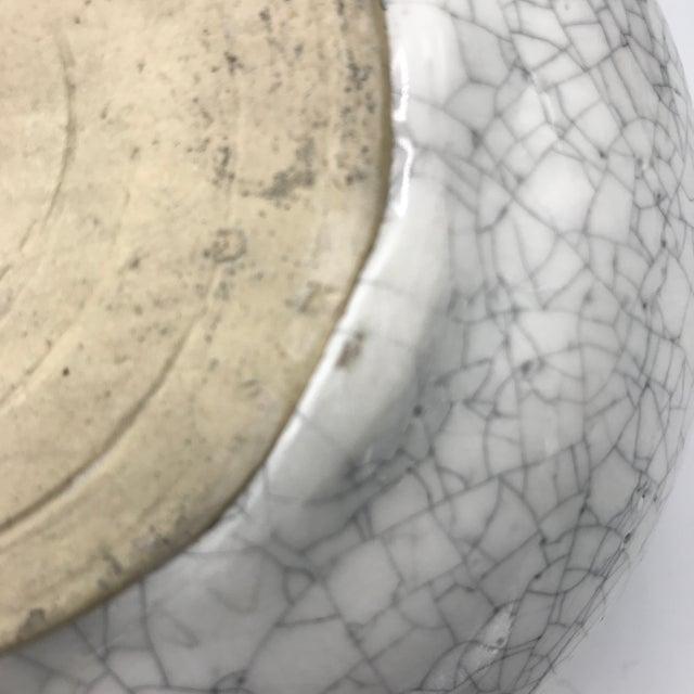 Studio Pottery Signed Crackle Glaze Lidded Ginger Jar For Sale - Image 10 of 13