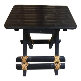 Asian Inspired Foldable Bamboo Stool