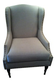 Image of Gray Wingback Chairs