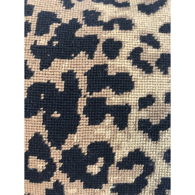 2010s Boho Chic The Big Leopard Pillow For Sale - Image 5 of 9