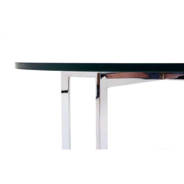 1970s Milo Baughman for Thayer Coggin, Round Chrome and Glass Coffee Table For Sale - Image 5 of 6
