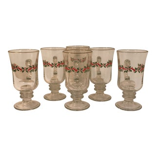 Vintage Libbey Holiday Collection Glasses - Set of 6 For Sale