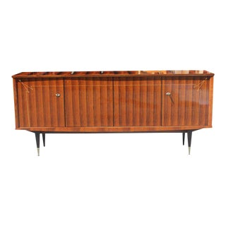 French Art Deco Light Macassar Ebony Sideboard / Buffet with diamond Mother-of-Pearl Circa 1940s