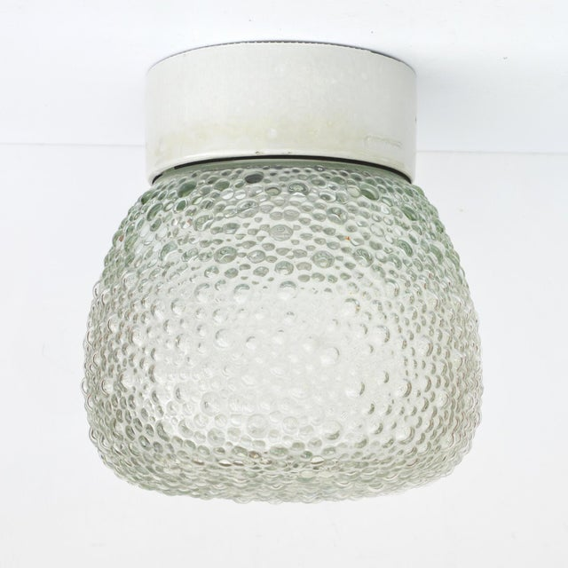 1970s Large Glass Outdoor Wall Lamp, Germany For Sale - Image 13 of 13