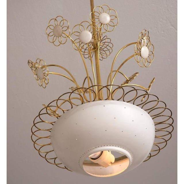 Hollywood Regency Elegant Floral Chandelier by Paavo Tynell, 1950s For Sale - Image 3 of 9