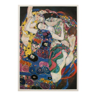 "1996 Gustav Klimt ""The Maiden"", Second German Edition Small Poster For Sale"