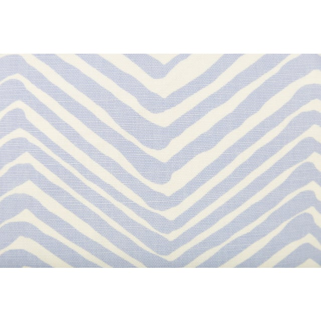 Contemporary Alan Campbell Periwinkle Zig Zag Pillows - A Pair For Sale - Image 3 of 5