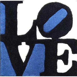 "Robert Indiana X Galerie-F ""Estonian Love"" Hand Tufted Rug - 1′3″ × 2″ For Sale"