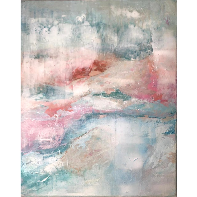 This painting emotes an ethereal atmosphere. The careful and thoughtful brushwork was applied in layers in order to create...