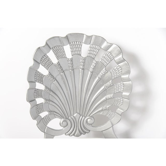 Aluminum Vintage Grotto Aluminum Shell Chairs - Set of 4 For Sale - Image 7 of 13