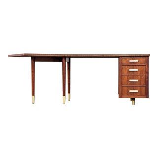 Mid Century Modern Walnut Boomerang Desk