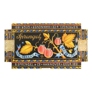 1927 German Vintage Packaging, Sprengel Chocolate For Sale