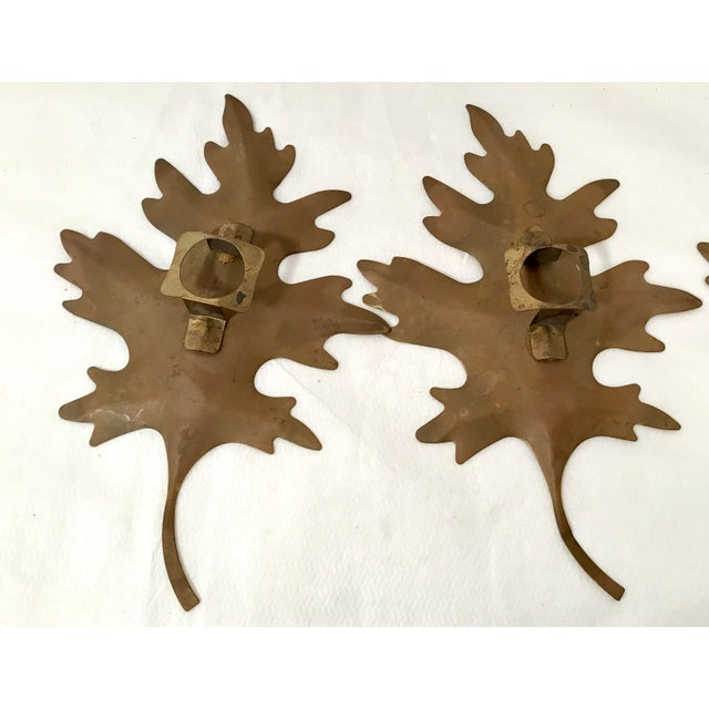 20th Century Brutalist Metal Leaf Wall Art - 3 Piece Set For Sale In Dallas - Image 6 of 7