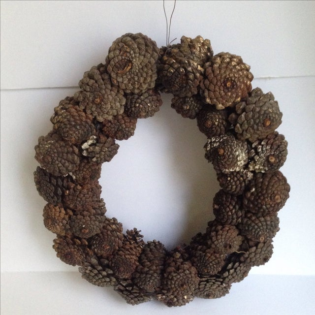 Vintage Natural Pinecone Wreath - Image 8 of 11