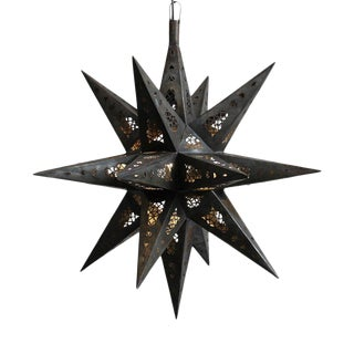 Moravian Tin Star Lantern Large For Sale