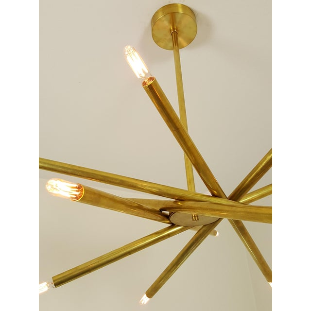 "Model 120 Sculptural Brass ""Nest"" Chandelier by Blueprint Lighting - Image 8 of 13"