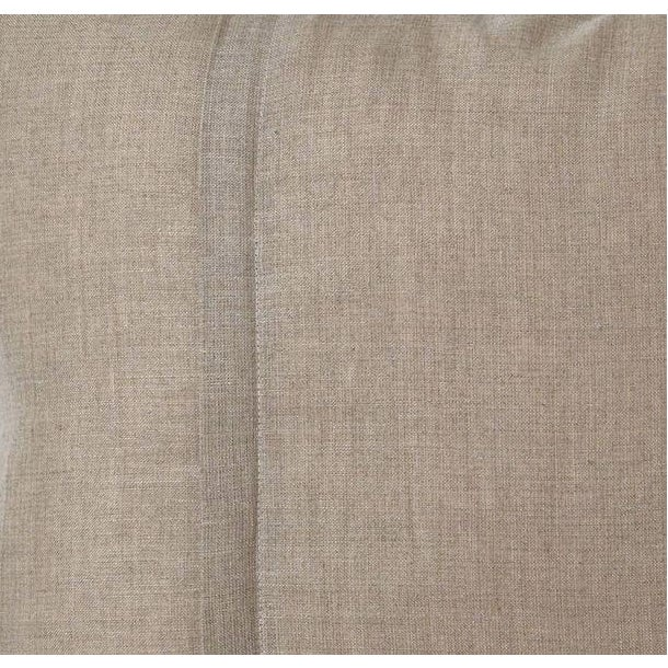 Pair of silk velvet accent pillows with tones of green on cream. The backs are a solid natural fabric. Pillows have a...