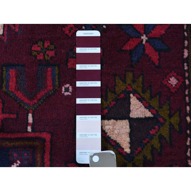 Textile Northwest Persian Heriz Wool Hand-Knotted Runner- 3′10″ × 11′6″ For Sale - Image 7 of 8