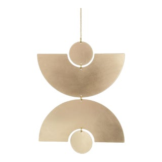 Double Arc Geometric Wall Hanging For Sale
