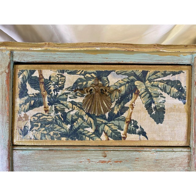Wood 1960s Night Stands Decoupaged With Idyllic Scene - a Pair For Sale - Image 7 of 11