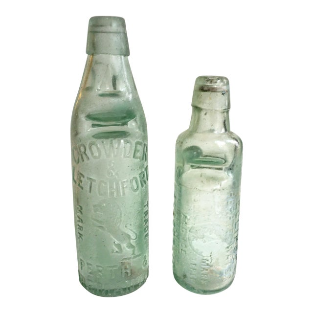 Antique Marble Medicine Bottles - A Pair - Image 1 of 9