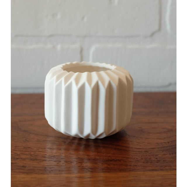 Contemporary Ceramic Tealight Candle Holder For Sale - Image 3 of 4