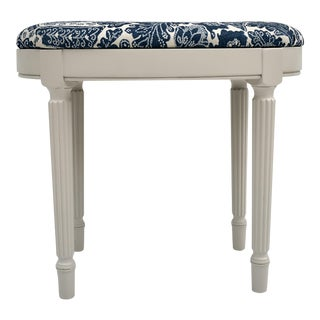 Empire Style Ralph Lauren Upholstered Bench For Sale