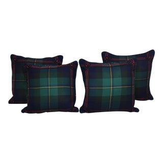 Set of 4 Ralph Lauren Greycliff Wool Tartan Pillows
