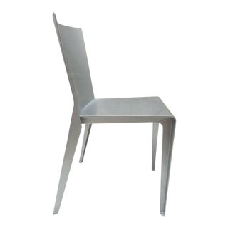 Hannes Wettstein 2001 Molteni & Co Alfa Gray / Silver Chair For Sale