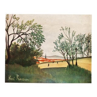 "1951 Henri Rousseau, ""Petit Paysage"" Original Parisian Photogravure For Sale"