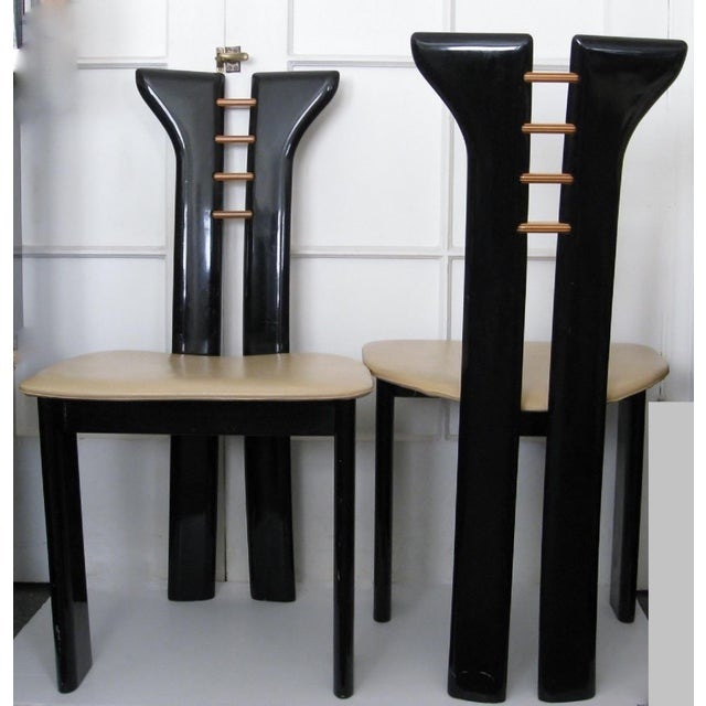 Vintage Italian Dining Chairs - Set of 6 - Image 3 of 11