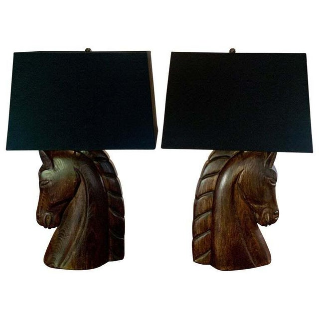 Mid 20th Century William Billy Haines Horse Head Lamps - a Pair For Sale - Image 13 of 13