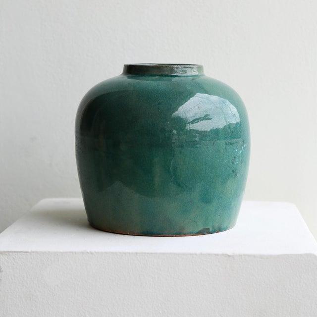 2020s Minimalist Blue Ginger Jar For Sale - Image 5 of 5