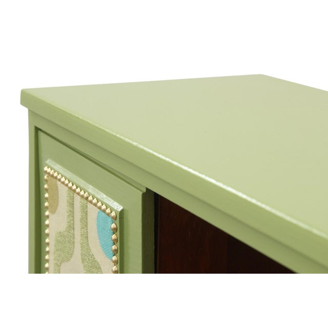 Mid Century Modern Cabinet in Green For Sale - Image 4 of 8